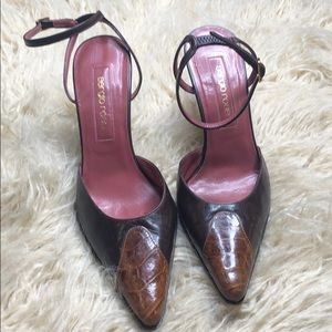 Sergio Rossi brown heels pumps stunning